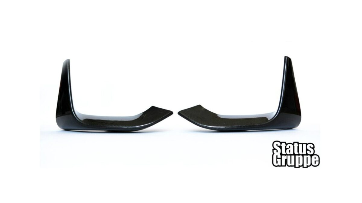 The Status Gruppe BMW F80 M3 & F82/83 M4 carbon fiber lower splitters are the perfect blend of OEM and aftermarket styling.