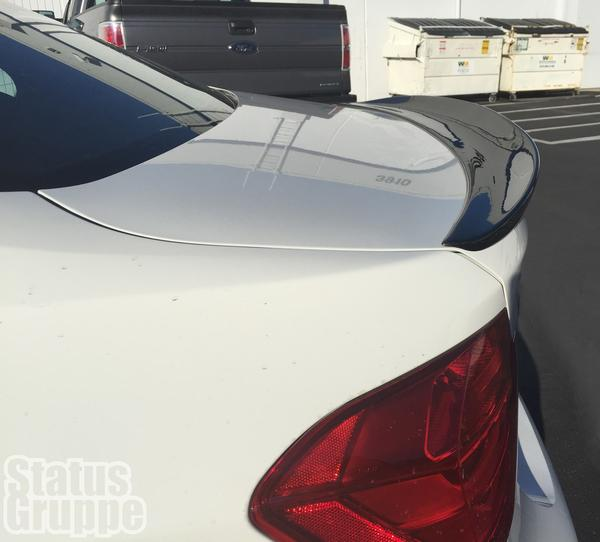 Our BMW F30 / F80 M3 Rear Trunk lid spoiler is the perfect blend of OEM and aftermarket styling.