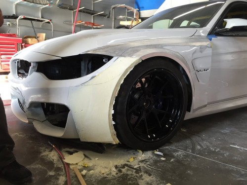 First BMW F80 widebody inspired by the BMW M6 GT built at 2M Autowerks in San Diego, California.