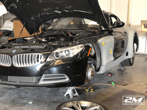 Custom widebody BMW Z4 E89 racecar built at 2M Autowerks in San Diego, California.